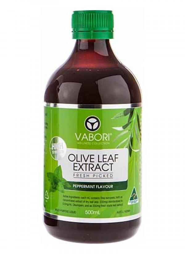 Vabori Olive Leaf Extract 500ml - Peppermint